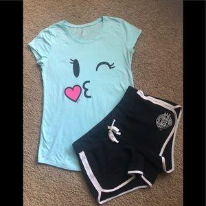 Justice Shirts & Tops - 💗Justice Tee/Shorts Bundle💗